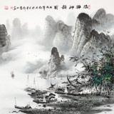 张慧仁 四尺斗方《清漓神韵图》 广西山水画家协会常务理事