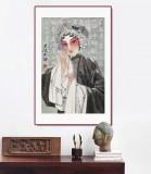 梁健 《春风拂翠》 当代百杰画家 中美协会员 代表作花旦题材