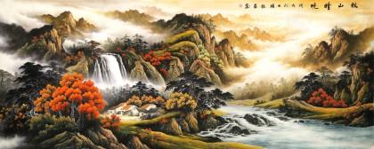 杨铭昌 小八尺《秋山晴晓》 安徽山水画研究协会理事