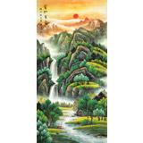 吴东 四尺《宝地生金》 著名易经风水画家