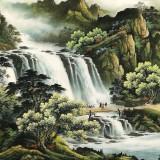 杨铭昌 小八尺《流水生财》 安徽山水画研究协会理事