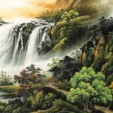 杨铭昌 小八尺《福地安居图》 安徽山水画研究协会理事