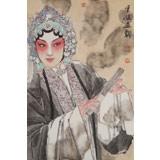 梁健 《妙韵丹青》 当代百杰画家 中美协会员 代表作花旦题材