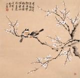 【已售】皇甫小喜 四尺斗方《寒梅迎春》 河南著名花鸟画家