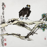 王永刚 指墨作品《幽鸟一自占梅花》 国家一级美术师