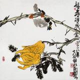 王永刚 指墨作品《福寿双全》 国家一级美术师