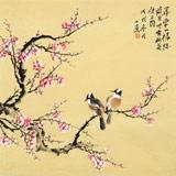 皇甫小喜 四尺斗方《喜梅闹春》 河南著名花鸟画家