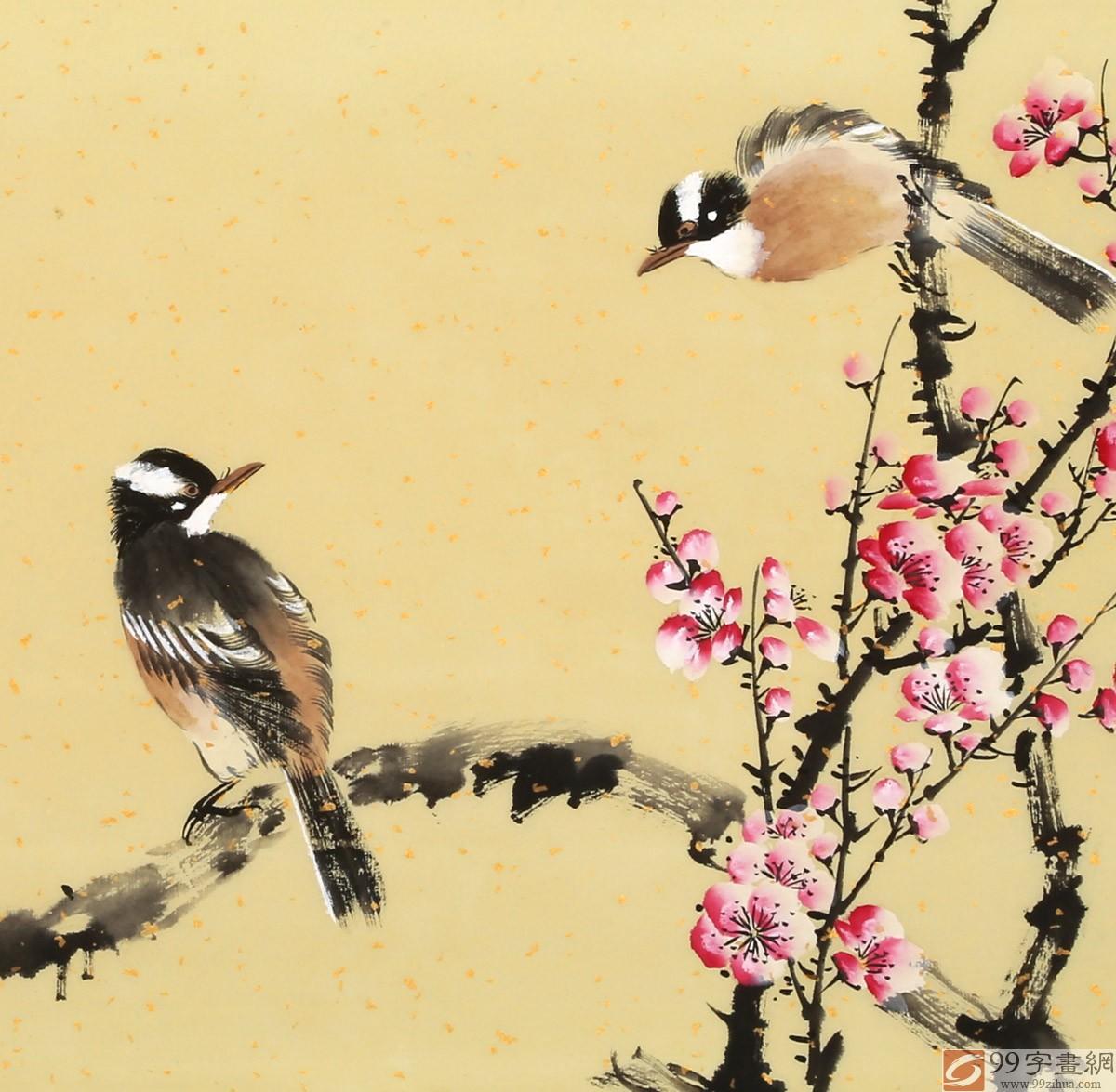 【已售】皇甫小喜 四尺斗方《喜梅闹春》 河南著名花鸟画家图片