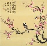 【已售】皇甫小喜 四尺斗方《喜梅闹春》 河南著名花鸟画家