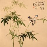 【已售】皇甫小喜 四尺斗方《竹怜新雨后》 河南著名花鸟画家