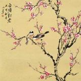 【已售】皇甫小喜 四尺斗方《白头到老》 河南著名花鸟画家