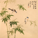 皇甫小喜 四尺斗方《心虚节更高》 河南著名花鸟画家