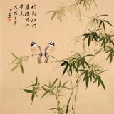 皇甫小喜 四尺斗方《竹影和诗瘦》 河南著名花鸟画家