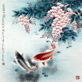 【已售】南海禅寺 妙林居士 四尺斗方《前程似锦》