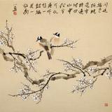 皇甫小喜 四尺斗方《寒梅傲骨》 河南著名花鸟画家