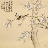 【已售】皇甫小喜 四尺斗方《寒梅傲骨》 河南著名花鸟画家