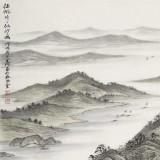 刘金河 四尺《征帆片片似沙鸥》 中国美术家协会会员