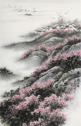 刘金河 《春风过江南》中美协会员 国家画院著名山水画家