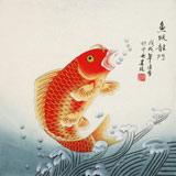 凌雪 三尺斗方《鱼跃龙门》 北京美协会员