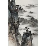 【已售】刘金河 《黄山云松》中国美术家协会会员