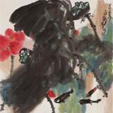 王永刚 四尺斗方《荷香清远》 国家一级美术师