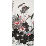 朱祖义 三尺荷花图《香远溢清》 中国老子书画院副院长