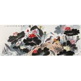 朱祖义 荷花《荷塘逸趣》 中国老子书画院副院长