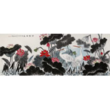朱祖义 荷花《清韵香远》 中国老子书画院副院长