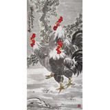 刘纪 四尺《冠居极品至三公》 河南著名老画家