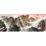 李碧峰 小六尺《泰山朝晖》 中国书画家协会理事