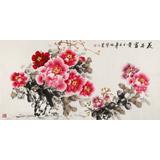 【已售】河南美协会员 王伟宁四尺《花开富贵》