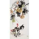 【已售】王宝钦 四尺《吉祥如意》当代花鸟牡丹画名家(询价)