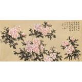 皇甫小喜 四尺《牡丹真国色 花开动京城》 河南著名花鸟画家