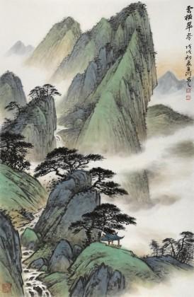 刘金河 四尺三开《云横翠岭》 中美协会员 国家画院画家