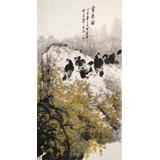 王宝钦 六尺《赏春图》当代花鸟牡丹画名家(询价)