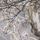 【已售】陈薪名《清寒》代表作精品 第六届全国花鸟画展金奖获得者 已裱轴 出版物原作