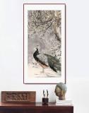 陈薪名《清寒》代表作精品 第六届全国花鸟画展金奖获得者 已裱轴 出版物原作