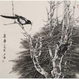 【已售】陈薪名《筑梦》代表作精品 第六届全国花鸟画展金奖获得者 已裱轴 出版物原作