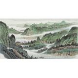 廖崧越 三尺《两岸猿声啼不住》 广西桂林美协会员