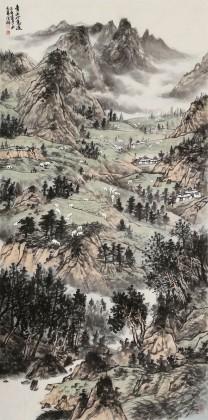 李德禄 《青山岭意远》 中美协会员 北京西山画院副院长 有合影