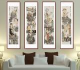 赵锦龙 《琴棋书画》 中美协会员 著名画家 代表作人物画 有合影
