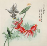 【已售】凌雪 四尺斗方《金玉满堂》 北京美协会员