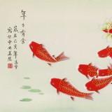 凌雪 三尺《年年有余》 北京美协会员