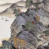【已售】刘金河 四尺三开《皖山秋韵》 中美协会员 国家画院画家