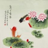 【已售】凌雪 四尺《年年有余》 北京美协会员