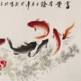 王宝钦小六尺《富贵有余》当代花鸟牡丹画名家(询价)