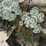 王宝钦 六尺《绿宝图》当代花鸟牡丹画名家(询价)