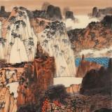 张勇 四尺斗方《湖山秋霁》 吉林著名山水画家