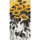 【已售】何一鸣 三尺《向阳花》