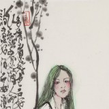 王其志 《少女》  中美协会员 江苏赣榆美协副主席